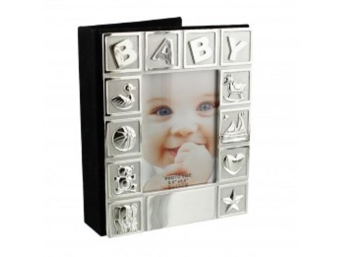 Фотоалбум със сребърно покритие BABY
