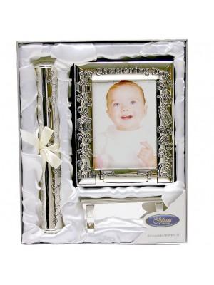 Подаръчен комплект за кръщене със сребърно покритие