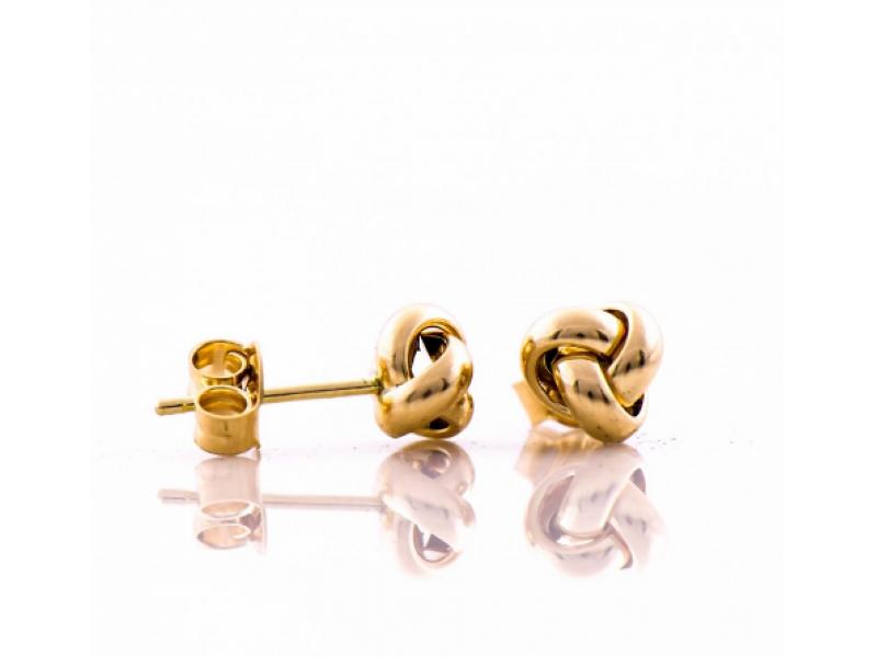 Златни обеци Плетеница