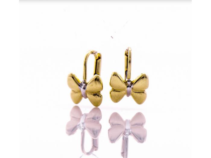 Златни обеци Пеперудки 403