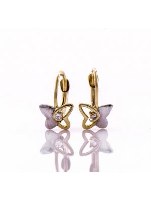 Златни обеци Пеперуди