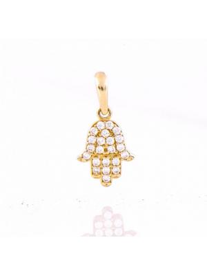 Златен медальон Ръката на Фатима