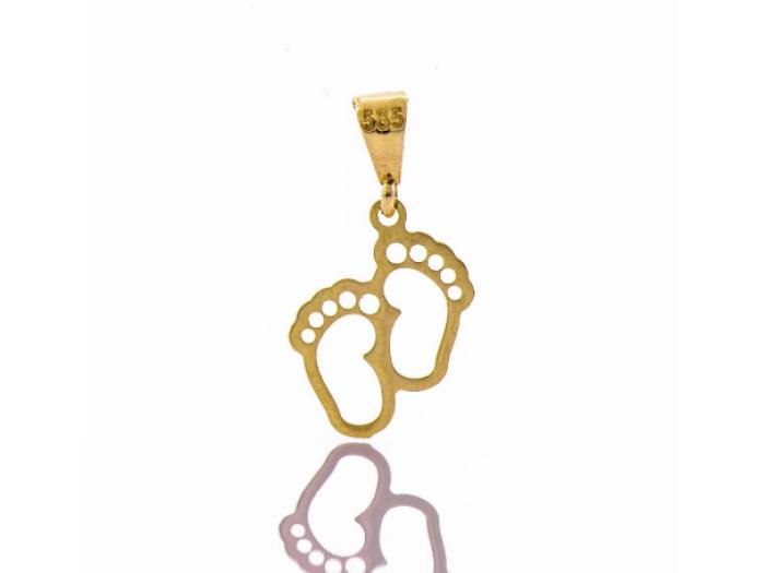 Златна висулка Бебешки крачета