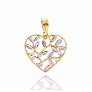 Златна висулка Сърце