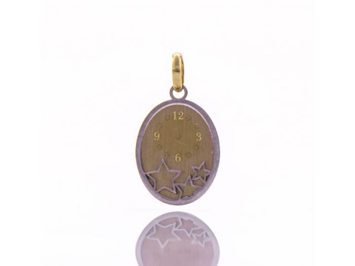 Златна висулка Час на раждане с включено гравиране