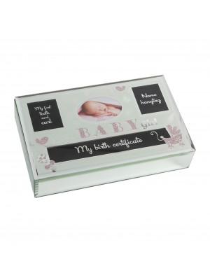 Стъклена кутия за спомени за момиче