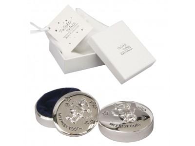 Кутийки за зъбче и косичка със сребърно покритие