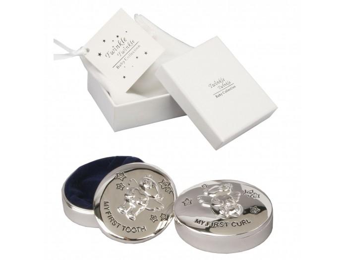 Twinkle Twinkle Кутийки за зъбче и косичка със сребърно покритие