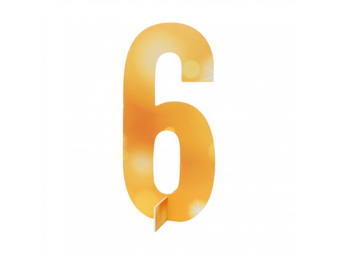 Настолна цифра № 6