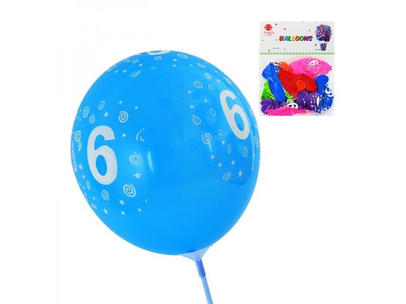 Балони с цифри от 1 до 9 - 10 броя микс