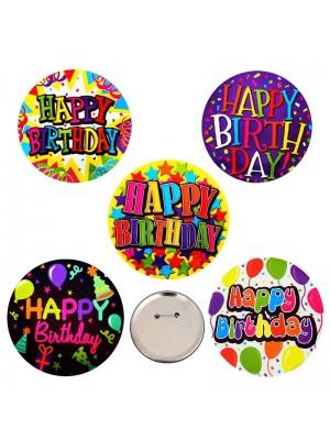 """Парти значка """"Happy Birthday"""""""