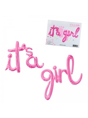 "Балони надпис ""It's a Girl"""