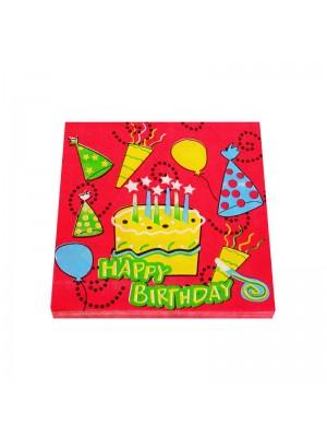 """Салфетки """"Happy Birthday"""""""