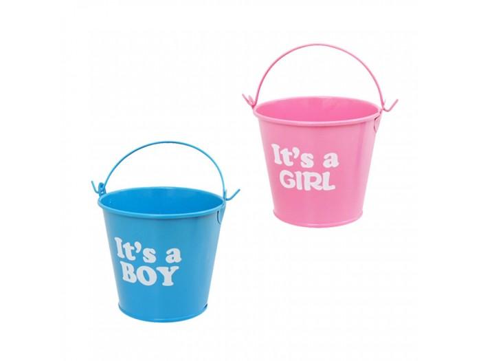 "Метална кофичка ""It's a Boy/ Girl"""