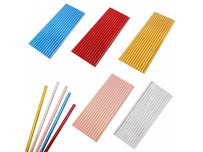 Парти сламки за еднократна употреба металик