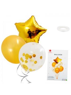 "Комплект балони ""Звезда"" или ""Сърце""- 7 броя"
