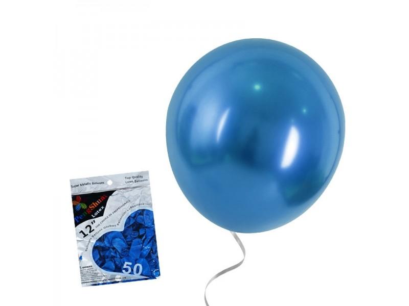 Балони латекс - лъскава перла - 50 броя различни цветове