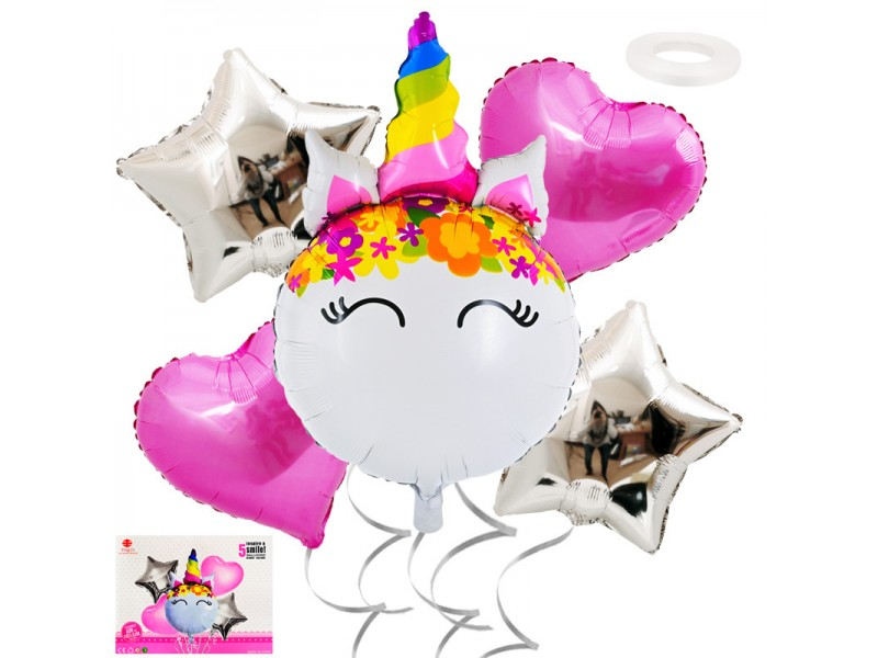"Комплект балони ""Еднорог"" 5 броя"