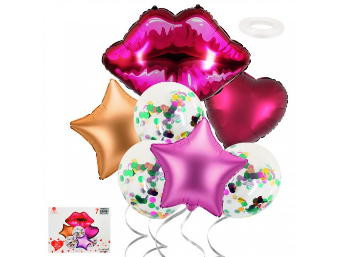 """Комплект балони """"Целувка"""" 7 броя"""