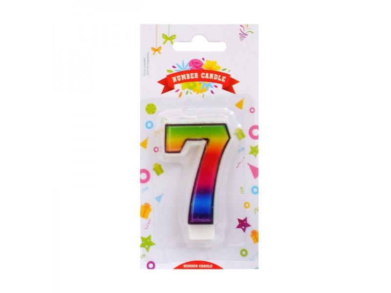 Свещичка цифра дъга от 5 до 9