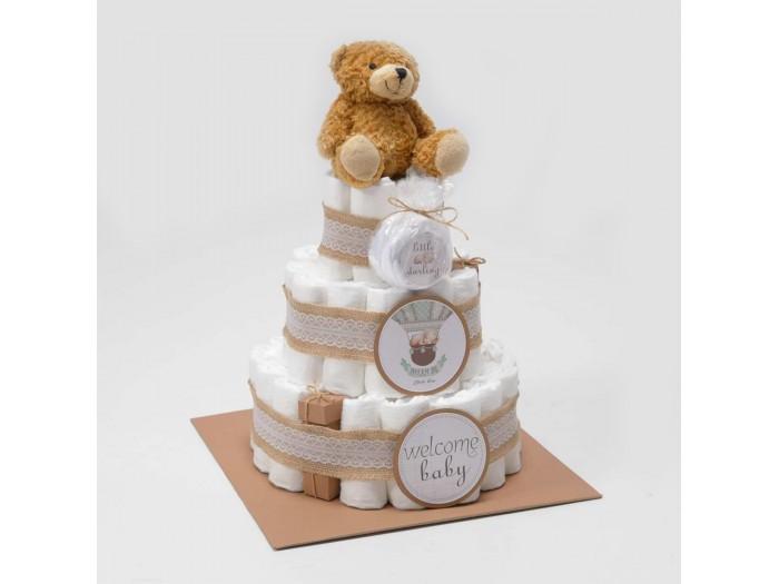 """Торта от памперси """"Little bear"""""""