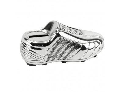 Касичка със сребърно покритие футболна обувка