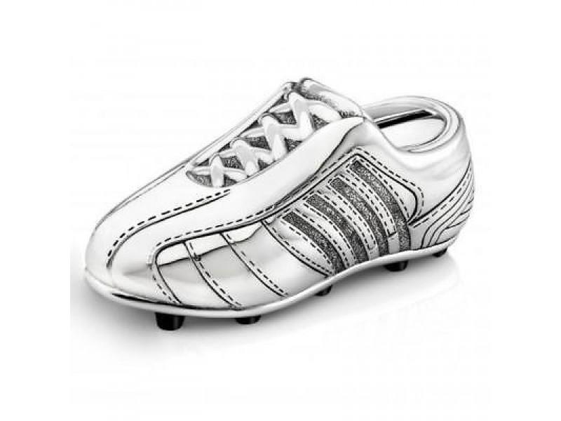 Касичка със сребърно покритие футболна обувка Bambino