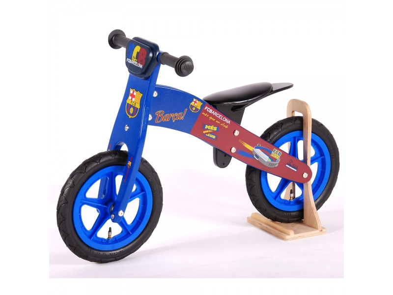 Дървено колело за баланс ФК Барселона, 12 инча