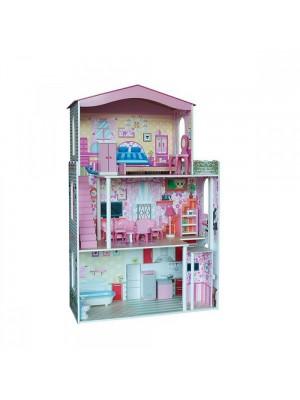 Къща за кукли с асансьор - обзаведена