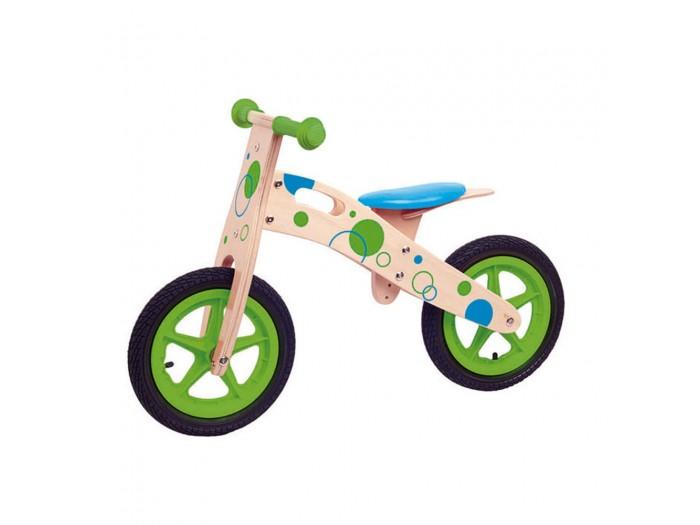 Дървено колело за баланс с надуваеми гуми