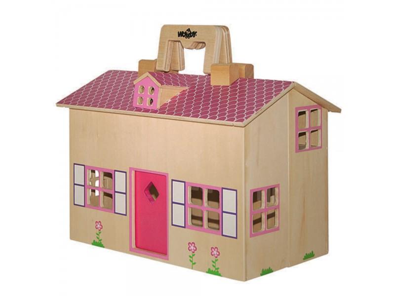 Къща за кукли тип куфарче с аксесоари