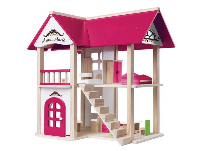 Дървена къща за кукли на два етажа Анна Мария