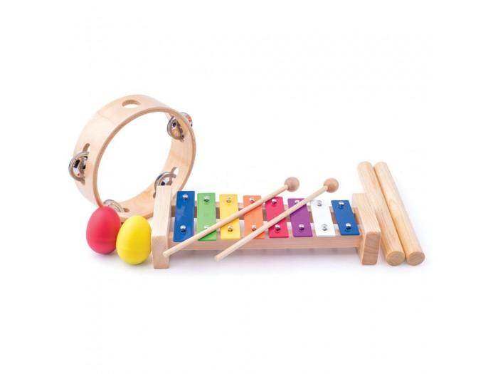 Комплект дървени музикални играчки