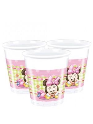 Хартиени чаши Мини Маус - 200 мл. в пакет от 8бр.