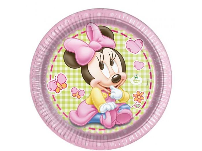 Детски чинии Мини маус - 23см в пакет от 8 бр.