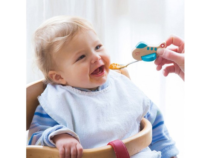 Забавна бебешка лъжичка за хранене