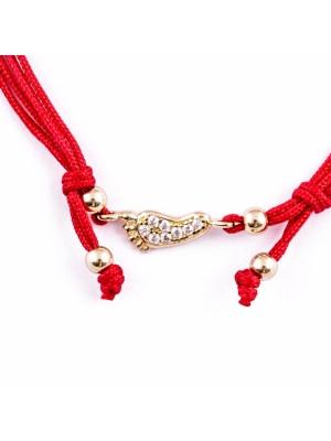 Златна гривна с червен конец - краче