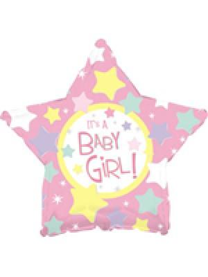 45 см ФОЛИО балон момиче – Розова звезда