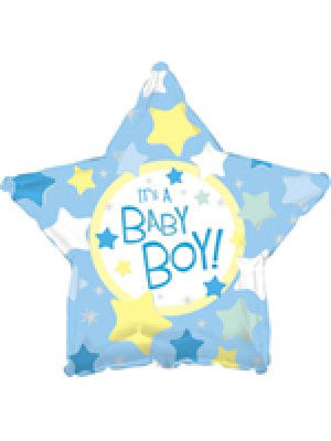 45 см ФОЛИО балон момче – Синя звезда