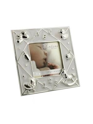 Фоторамка със сребърно покритие за снимка с размер 8x8 см