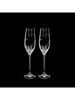 Ритуални чаши със камъни Swarovski - сърце