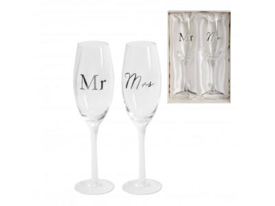 Комплект сватбени чаши за шампанско Деня на сватбата