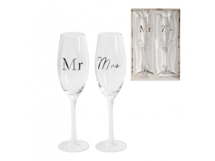 Amore комплект сватбени чаши за шампанско Деня на сватбата