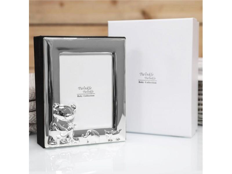 Зашеметяващ фотоалбум със сребърно покритие