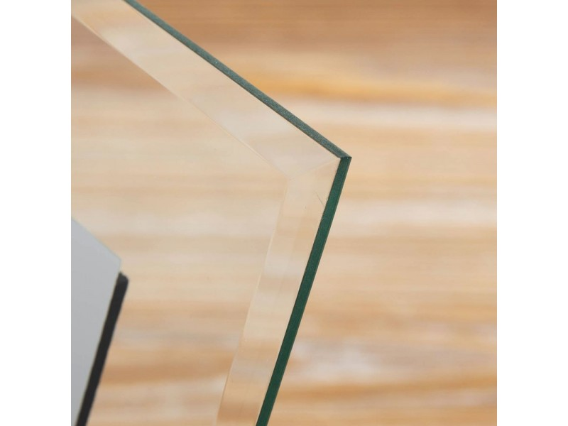 Стъклена фоторамка с кръст и възможност за гравиране 10х15см