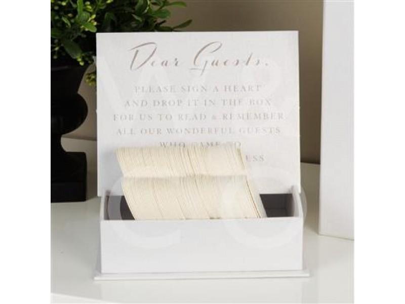 Красива кутия за пожелания от гостите от колекцията Amore Wedding Day.