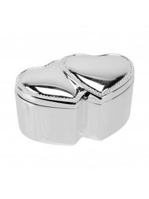Кутия за пръстени или бижута със сребърно покритие от София
