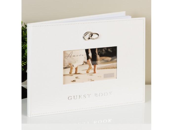 Amore красива сватбена книга за гости 40 страници