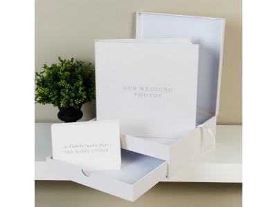 Красив комплект от фотоалбум и кутия за спомени