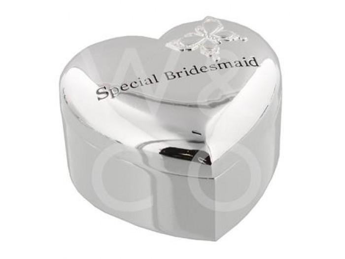 """Amore кутия за бижута със сребърно покритие """"специална шаферка"""""""